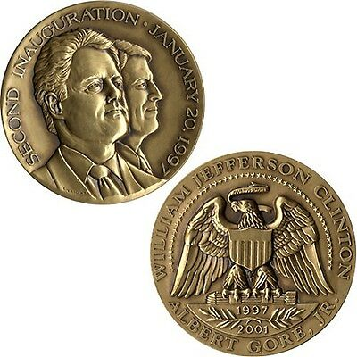 Official 1997 Clinton Gore Inauguration Medal (5708)