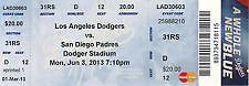 Up to 5 SD Padres vs Los Angeles Dodgers 6/3 Ticket Stubs Yasiel Puig MLB Debut