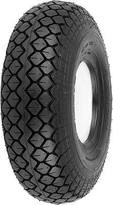 2x Punture Proof  Mobility Scooter Tyre 330x100 400x5 Black  Diamond Block Tread