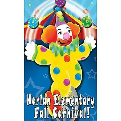 PERSONALIZED CLOWN STANDEE * party decoration * birthday * carnival * circus