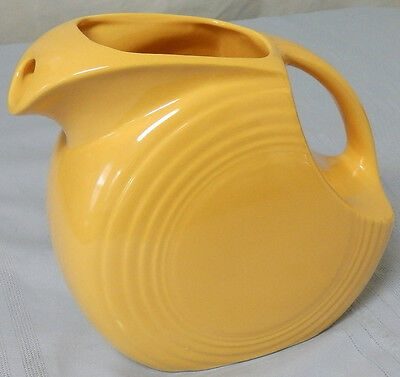"HLC FIESTA WARE ""SUNFLOWER  YELLOW"" 64oz DISC DISK PITCHER - EXCELLENT CONDITION"