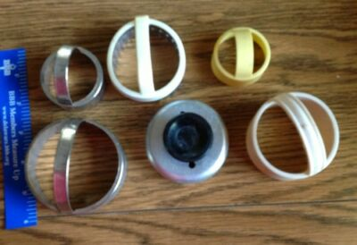 Vintage Lot  of Mixed plastic and metal 6 Biscuit or  cookie cutters lot of 6