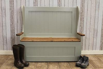 Painted 6Ft Pine Storage Bench Settle Pew Handmade In Great Britain In Any Size