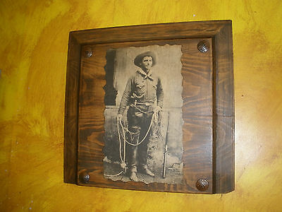 Rustic Old Door Panel-Cowboy--Mexican-Western-Antique-19x17-NEW-Old West
