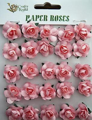 Adhesive Pink Paper Roses Flowers Card Making NEW