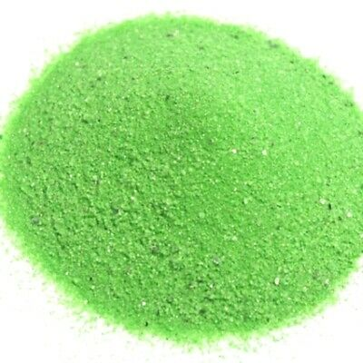 NEW 500g Coloured Wedding Sand Party Ceremony Decorations Crystalline Lime Green