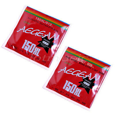 2 Sets Electric and Acoustic Guitar Parts Alloy Strings 6 Steel Ball End