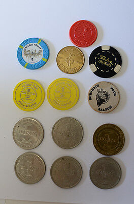 Vintage 1979 Gold Dust Reno + Others Casino Chips