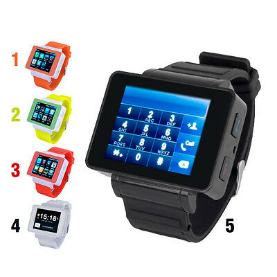 "Unlocked 1.8"" TFT Touch Screen Wrist Cell Mobile Phone Watch GSM MP3 Bluetooth"