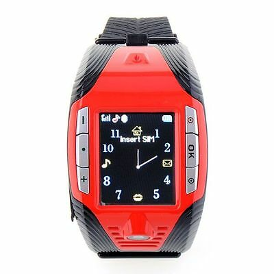 Red F3 GSM Mobile Wrist Watch Cell Phone Camera Bluetooth MP3 Mp4 Player Sports