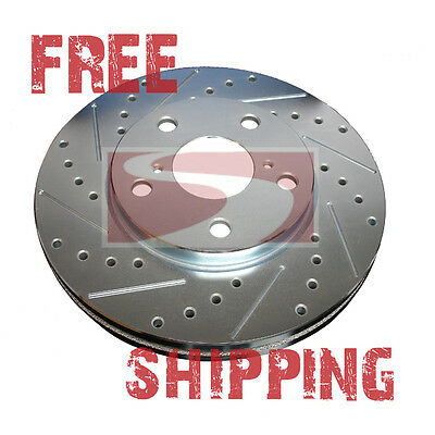 FRONT Performance Cross Drilled Slotted Brake Disc Rotors TB5474