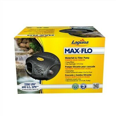 Laguna Max-Flo 600 Waterfall & Filter Pump, for ponds up to 1200 U.S. gal
