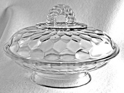 EAPG - Honeycomb - Oval Covered Butter or Relish