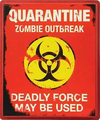 Zombie Outbreak Quarantine Sign Halloween decoration/prop - #M37242