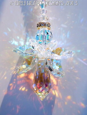 m/w Swarovski BIG AURORA BOREALIS Guardian Angel SunCatcher Lilli Heart Designs