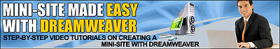 Mini-Site Made Easy With Dreamweaver Tutorials on 1 CD