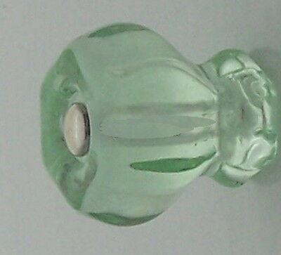 Antique type Large Depression Green Glass Cabinet Knob Modern Connector options
