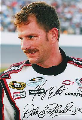 Kerry EARNHARDT SIGNED NASCAR Winner Genuine Autograph 12x8 Photo AFTAL COA
