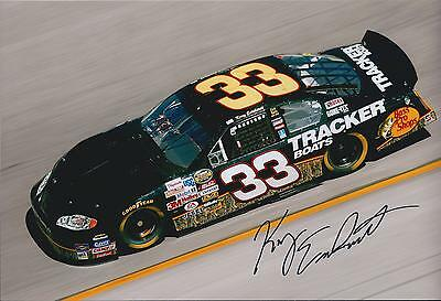 Kerry EARNHARDT SIGNED Nascar BUSCH Truck Genuine Autograph 12x8 Photo AFTAL COA