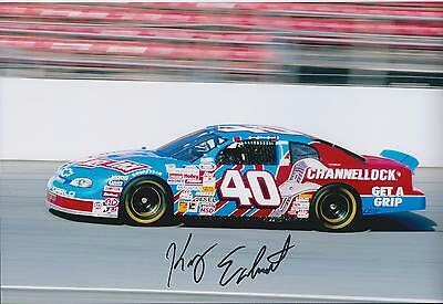 Kerry EARNHARDT SIGNED Chevrolet NASCAR RARE Autograph 12x8 Photo AFTAL COA