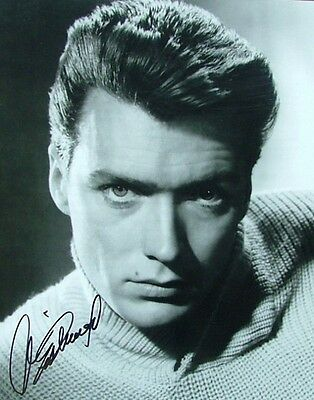 Clint Eastwood Signed 8x10 Glossy Photo Movie Actor