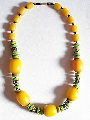 Lovely Vintage African COPAL & Trade Beads Necklace