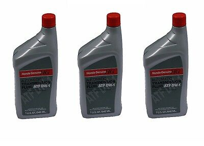 3-Bottles Honda DW-1 ATF Automatic Trans Fluid Replaces Honda Z-1 Fuid Genuine