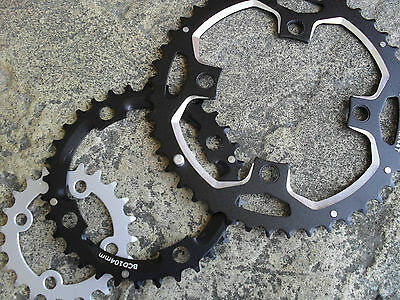 SET OF 3 Alloy Chainrings (22+32+44 tooth) Chain Rings (7 8 9 spd) Mountain Bike