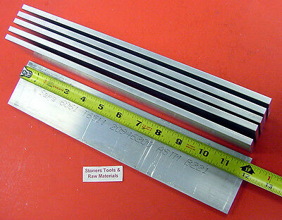 "6 Pieces 1/4"" X 3"" ALUMINUM 6061 FLAT BAR 12"" long T6511 Plate Mill Stock .25"""