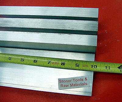 """4 Pieces 3/4""""x 3"""" ALUMINUM FLAT BAR 10"""" long 6061 T6511 Solid Plate Mill Stock"""