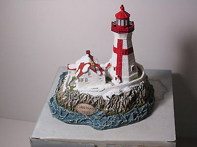 Harbour Lights Christmas 1999 East Quoddy Light Canada #708 MIB with COA