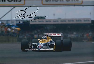 Nigel MANSELL SIGNED HONDA RED 5 12x8 Photo Autograph AFTAL COA