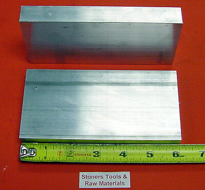 "2 Pieces 3/4"" X 2-1/2"" ALUMINUM 6061 FLAT BAR 6"" long T6 .750"" PLATE Mill Stock"
