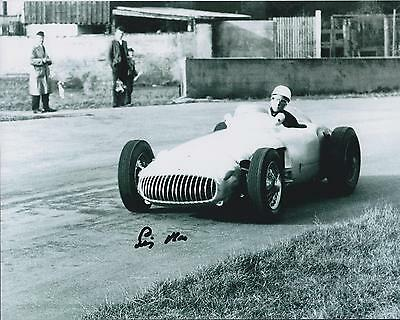 Sir Stirling Moss GENUINE SIGNED F1 Racing Driver 10x8 Photo AFTAL COA Autograph