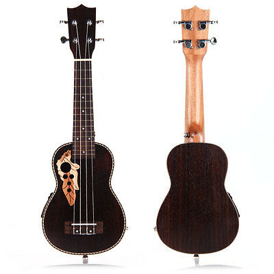 "21"" Pro Soprano EQ Electro Acoustic Ukulele Uke 15-Frets Hawaii Guitar New"