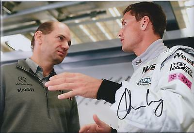 Adrian NEWEY SIGNED 12x8 Photo with David COUTHARD AFTAL Autograph COA