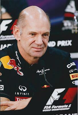 Adrian NEWEY SIGNED 12x8 Photo Red BULL Winners PORTRAIT AFTAL Autograph COA