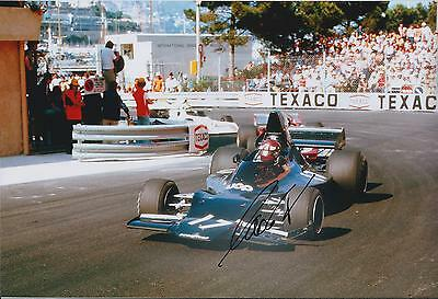 Jackie OLIVER SIGNED SHADOW Racing Team 12x8 Photo AFTAL Autograph COA