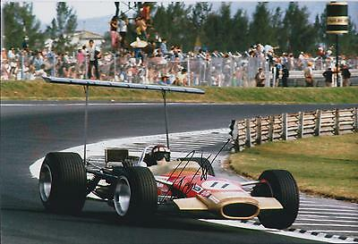 Jackie OLIVER SIGNED FORD Cosworth 12x8 Photo AFTAL Autograph COA