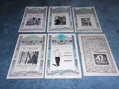 Lot Of Six Different Original Film Programs From 1930's Nice!