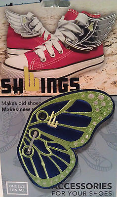 c61308caf2 SHWINGS Butterfly BLUE LIME wings shoes official designer Shwings NEW 50108