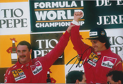 Alain Prost SIGNED Autograph 12x8 Photo AFTAL COA Spanish GP Winner Mansell F1