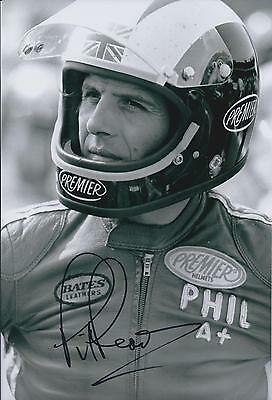 Phil Read SIGNED 12x8 Photo AFTAL COA Autograph Racing LEGEND