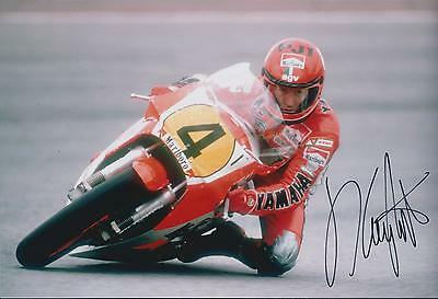 KING Kenny ROBERTS SIGNED 12x8 YAMAHA World Champion Photo AFTAL COA Autograph