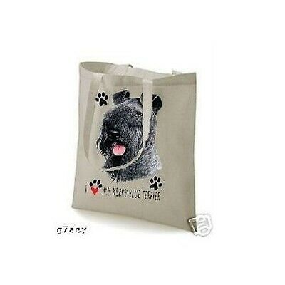 I Love My Kerry Blue Terrier Design Printed Tote Bag