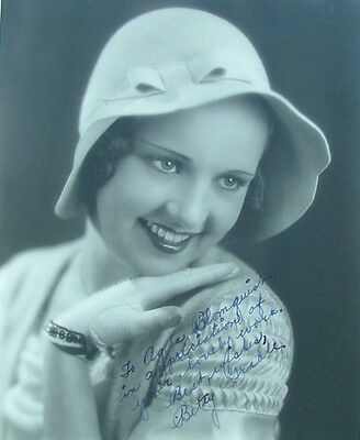 Betty Grable Signed 8x10  Matte-Finish Double-Weight Photo Very Early