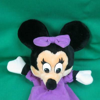 VINTAGE DISNEYLAND WALT DISNEY WORLD PURPLE DRESS MINNIE MOUSE HAND PUPPET PLUSH