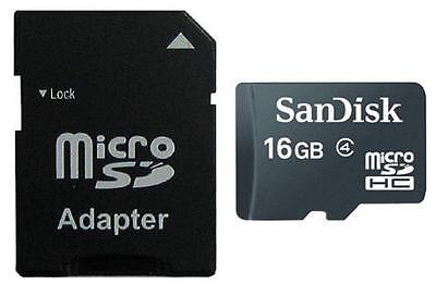 16GB MicroSD SANDISK, 16 GB MICRO SDHC incl. SD-Adapter