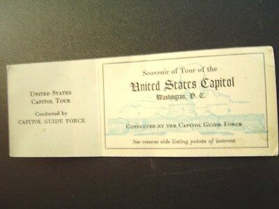 Vintage United States Capitol Tour Capital Guide Force Souvenir Card