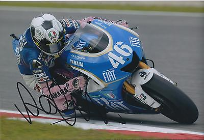 VALENTINO ROSSI Autograph SIGNED YAMAHA 12x8 Photo AFTAL COA The Doctor VALE 46